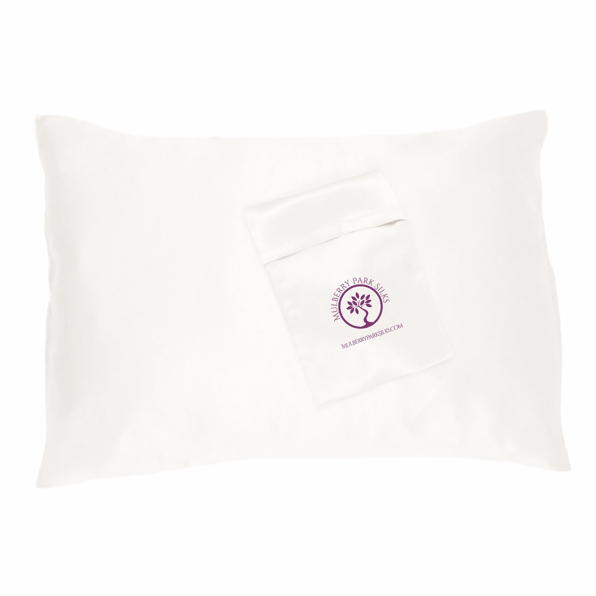 Ivory Silk Travel Pillowcase with travel bag by Mulberry Park Silks