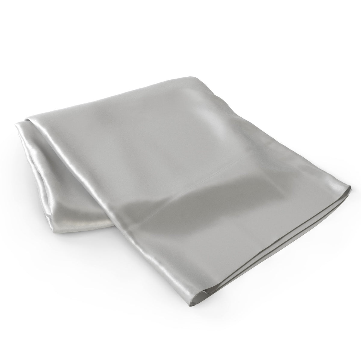 100% Silk 22 Momme Flat Silver Silk Sheets