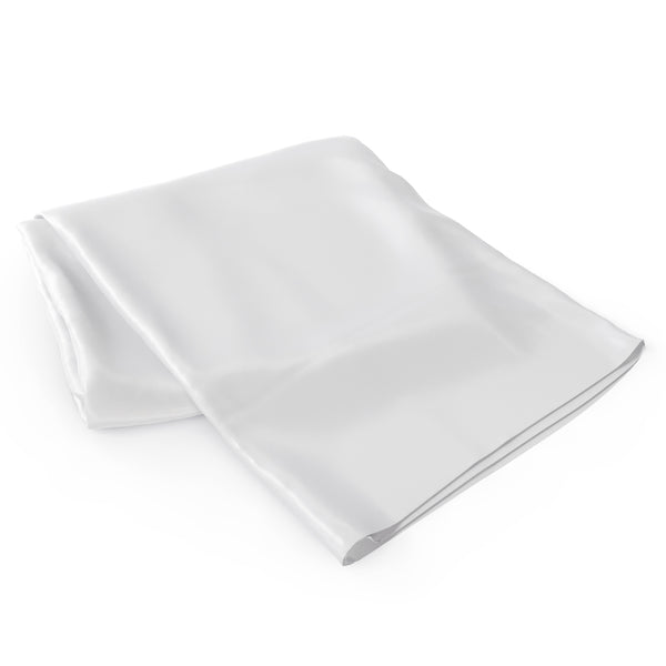22 Momme Silk Flat Sheets - White