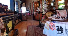 A peek inside Jackass Charm Corner Store in Woodstock, IL.