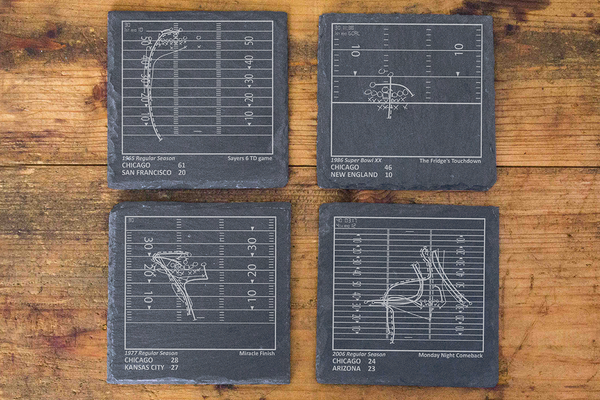Playbook Products - Chicago Bears Greatest Plays Coasters