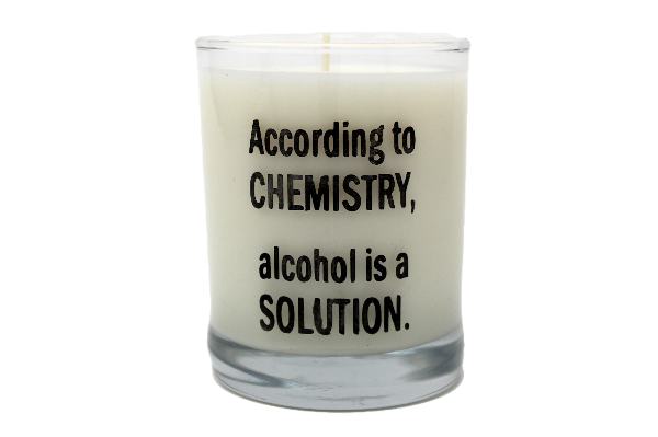 According To Chemistry Alcohol Is A Solution Rocks Glass Candle