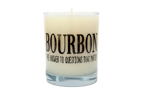 Bourbon The Answer To The Questions That Matter Rocks Glass Candle