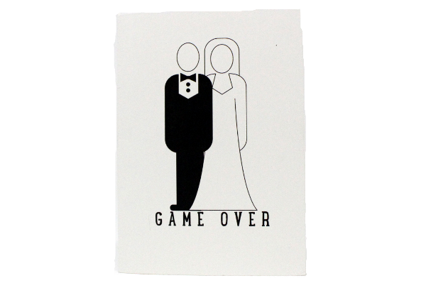 Game Over (blank inside) - a card by Ciao Bella Ltd.