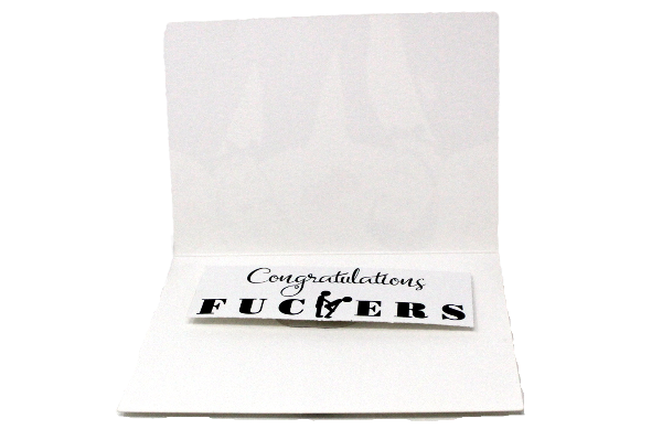 Congratulations Fuckers - a card by Ciao Bella Ltd.