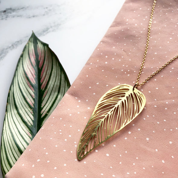 Delicate Gold Leaf Necklace