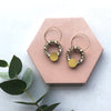 Terrazzo Circle Hoop Earrings - Olive
