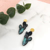 Cactus Statement Drop Earrings