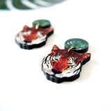 Tiger Drop / Dangle Earrings