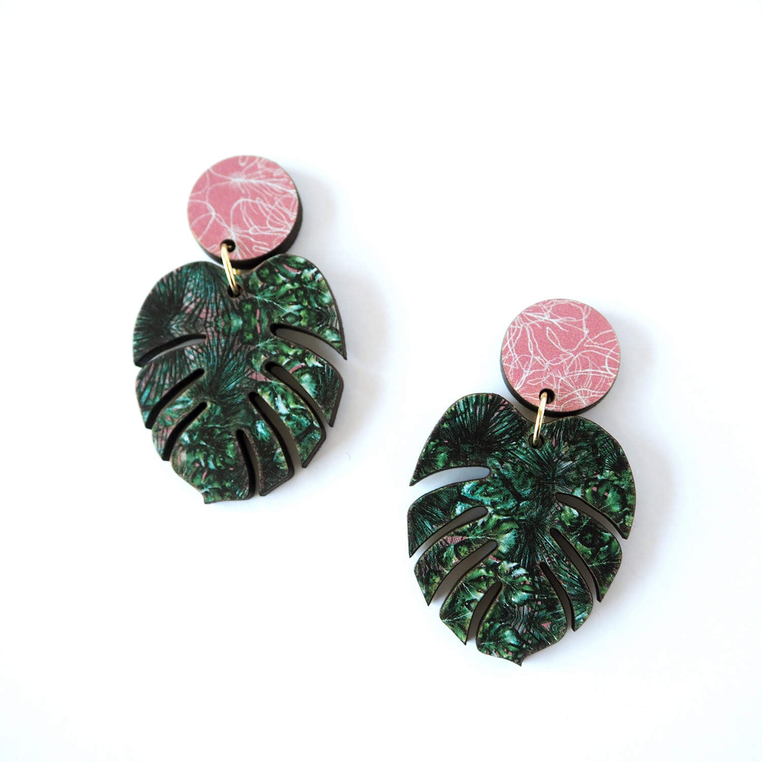 d7ea5b60a Monstera Drop Earrings – Mica Peet