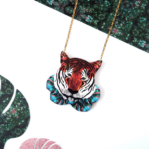 Printed Tiger Necklace