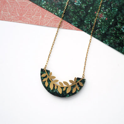 Gold Branch Leaf Necklace