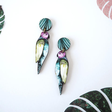 Tropical Statement Parrot Earrings