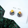 Geometric Palm Leaf Earrings