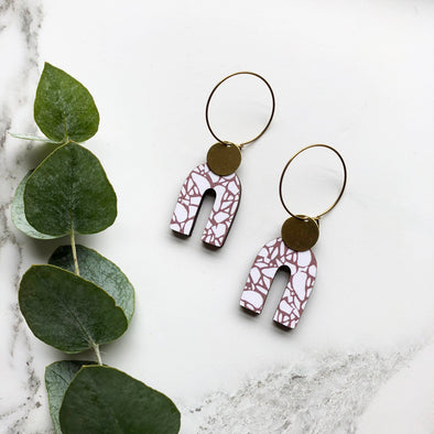Terrazzo Arc Hoop Earrings