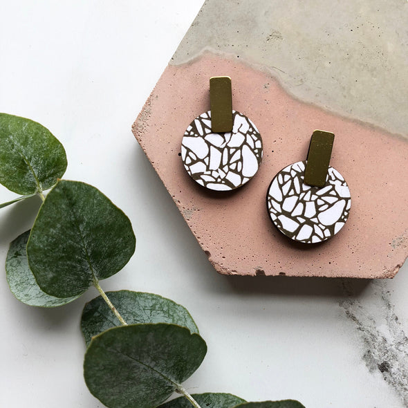 Terrazzo Circle Earrings