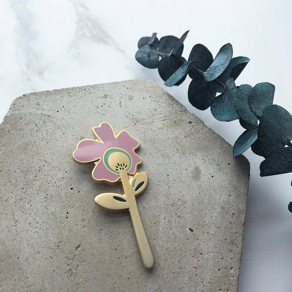 Flower Enamel Pin - Botanical Enamel Pin
