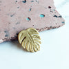 Gold Monstera Enamel Pin