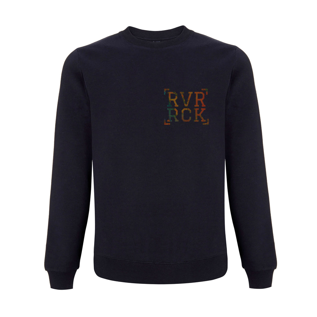Navy-Orange Sweater