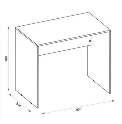 ESCRITORIO HOME OFFICE CUBO 90