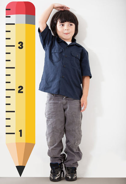 Pencil Growth Chart Boy