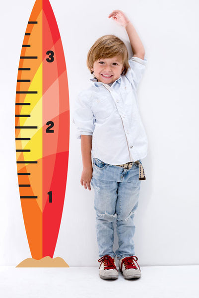 Surfboard Growth Chart with Boy
