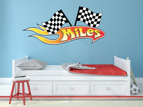 Custom Flame Wall Decal