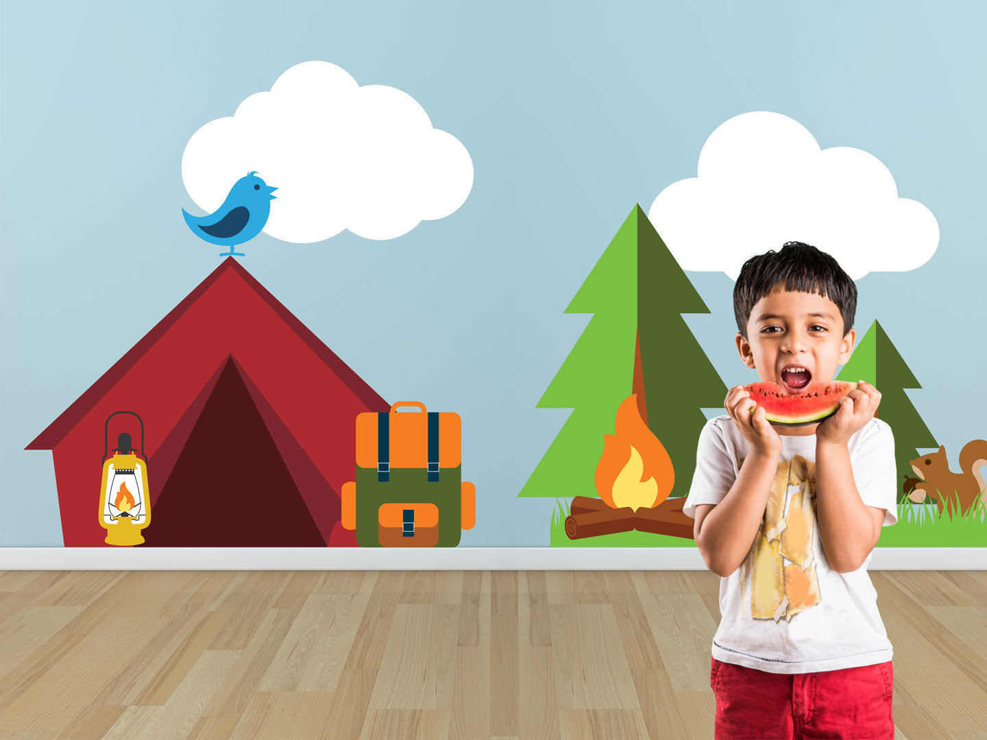 Camping Theme Wall Decals Boy