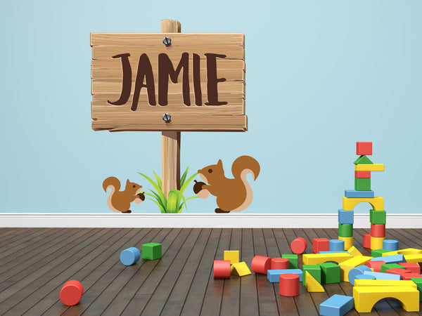 Custom Name Wooden Sign Wall Decal