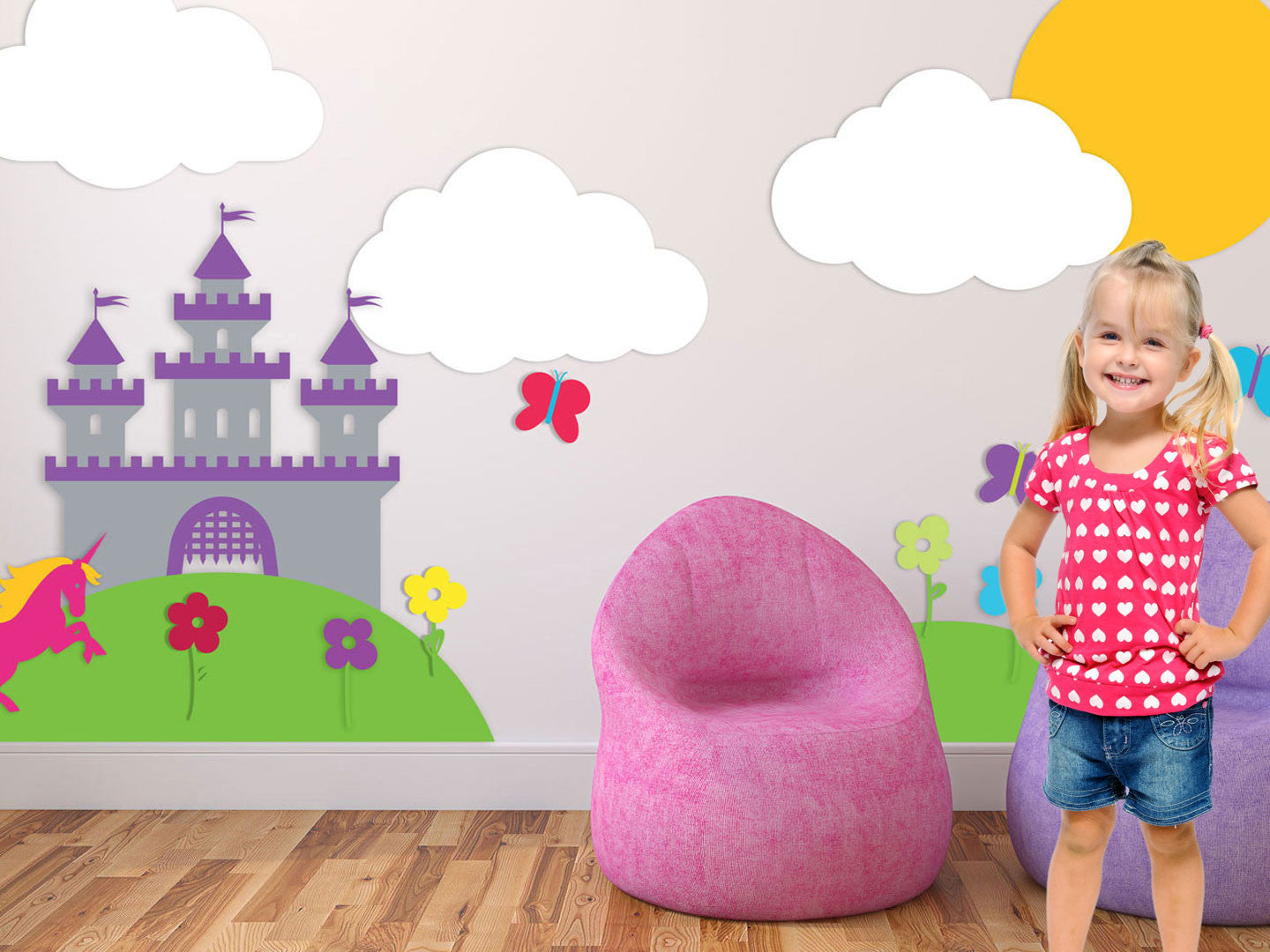 Fairytale Theme Wall Decals Girl