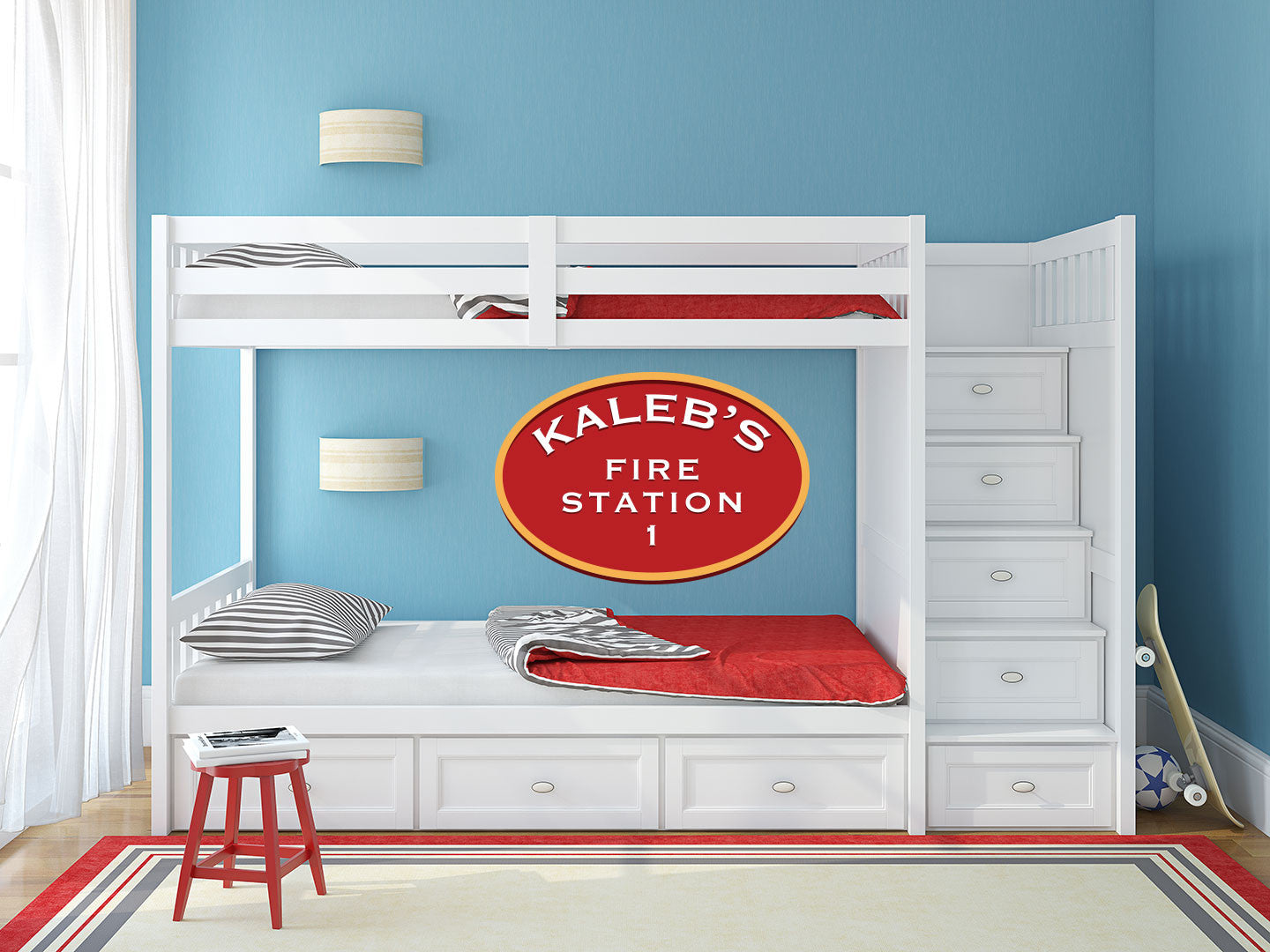 Custom Name Firefighter Wall Decal