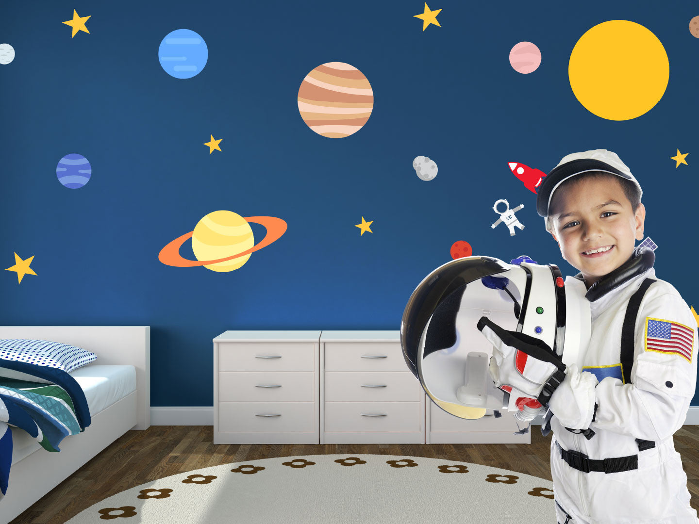 Outer space Theme Wall Decals Boy