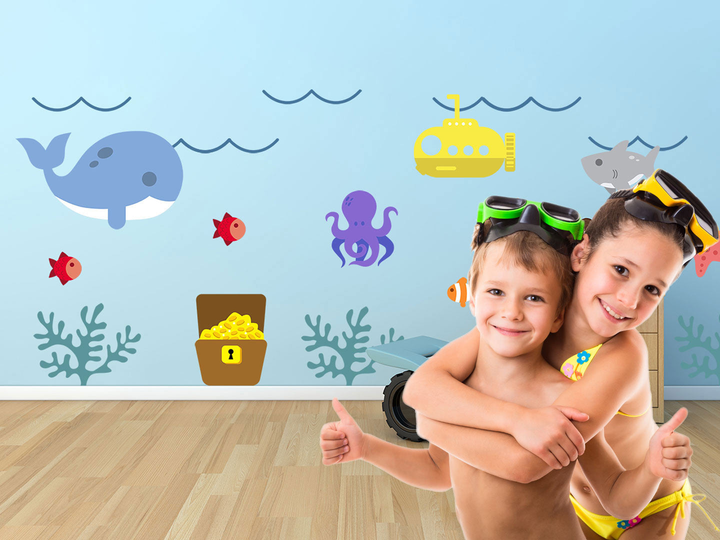 Underwater Theme Wall Decals