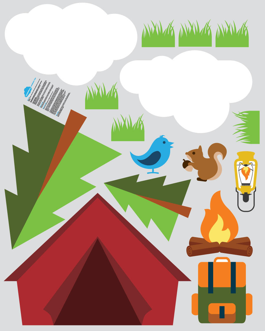 Camping Theme Pack - 16 Wall Decals