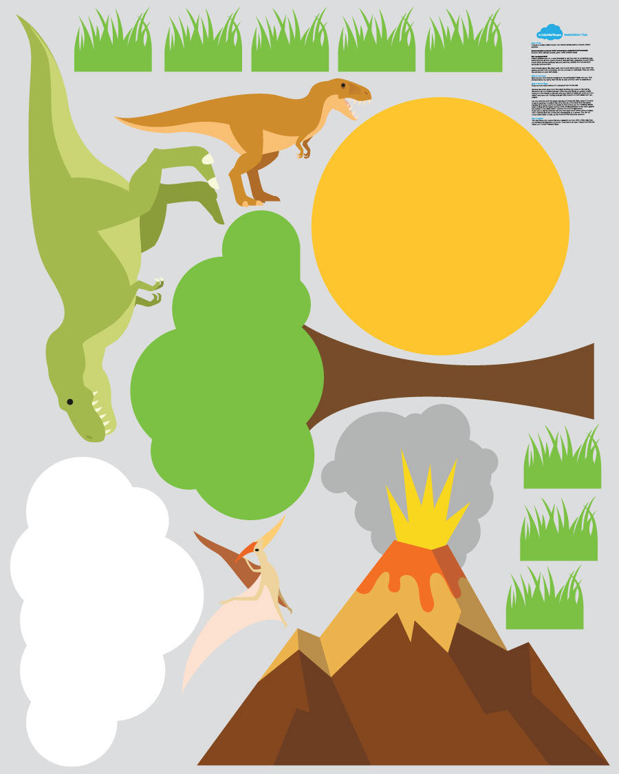 Dinosaur Theme Pack - 15 Wall Decals