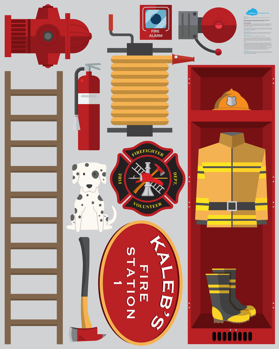 Fire Station Theme Wall Decals
