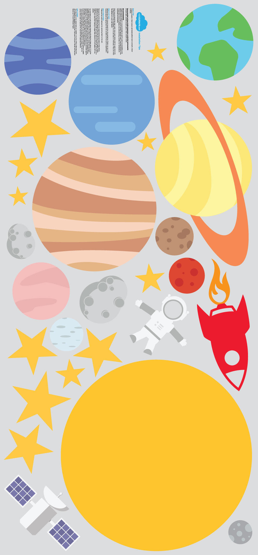 Outer Space Theme Pack - 28 Wall Decals