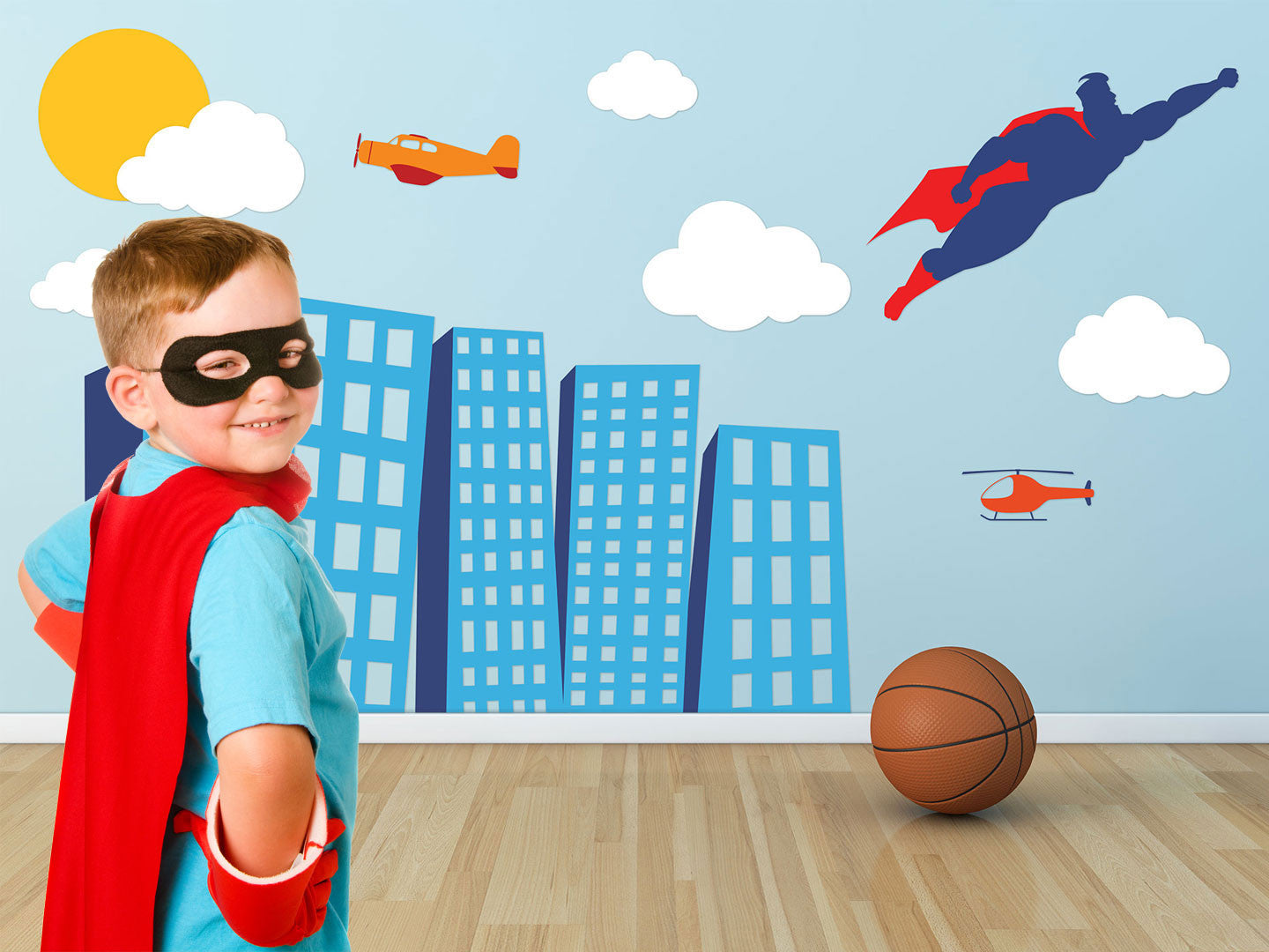 Superhero Theme Wall Decals