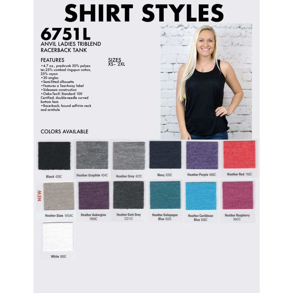 Ladies Racerback Tank - Spirit With Style