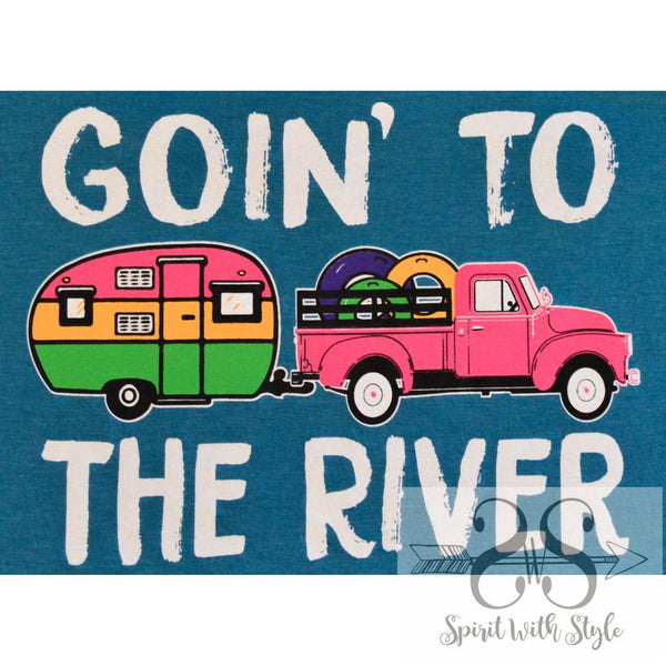 RV6 - Goin' to the River camper camping custom glamping goin' going graphic t graphic t-shirt graphic tee Racerback river soft t spirit with style stay styled Summer t t-shirt tank to the river truck wholesale