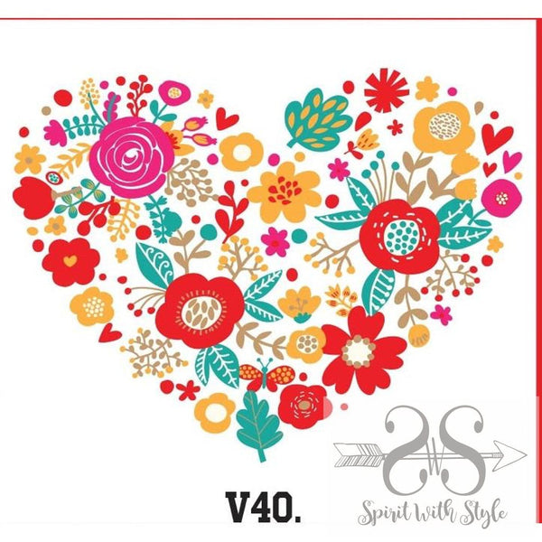 V40 - Heart of Flowers baseball custom flowers graphic graphic t graphic t-shirt graphic tee heart love raglan roses spirit with style Spring stay styled style t-shirt tee Valentine's Day Valentines wholesale