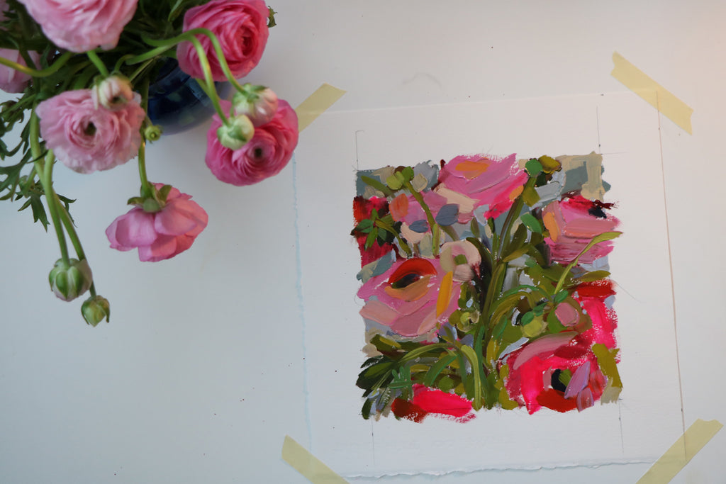 Ranunculus Oil Painting