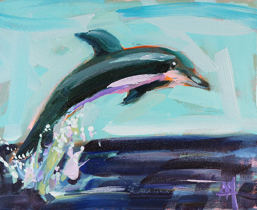 Jumping Dolphin Painting