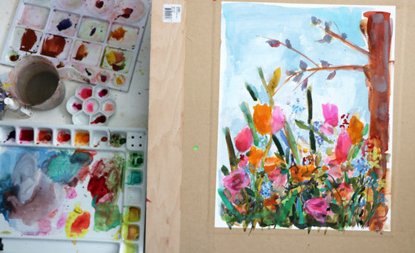 Making Happy Day Garden Painting