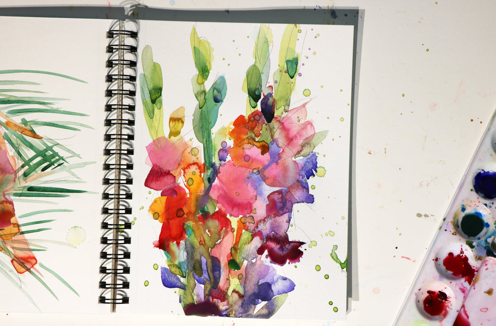 Colorful Gladiolus Painting