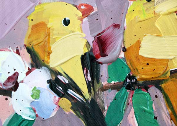 Painting Goldfinch