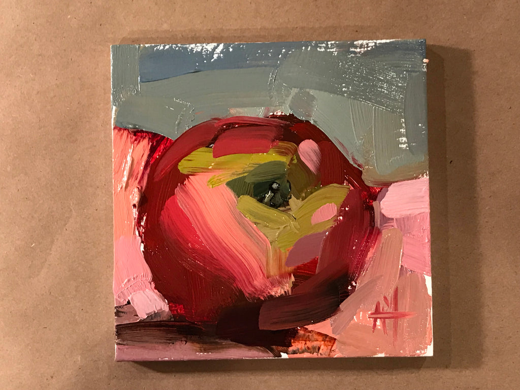 Painting a Honeycrisp Apple