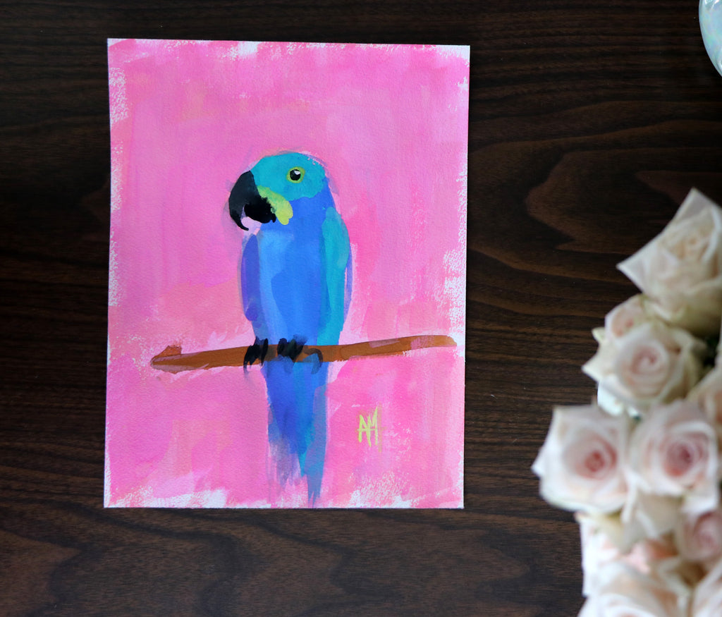Painting a Macaw in Gouache