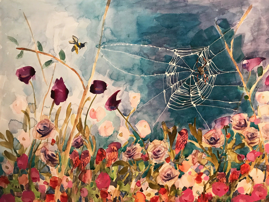 Video of Watercolor Spiderweb