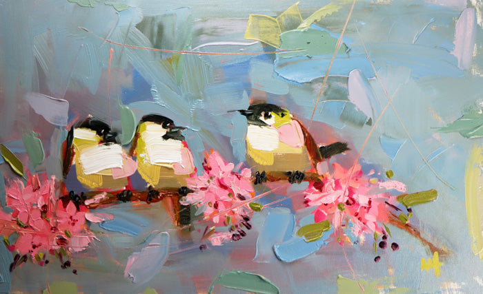 Painting Chickadees